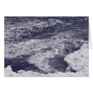 Agua de precipitación tarjeta de felicitación