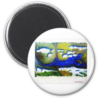 Agua de superficie imán redondo 5 cm