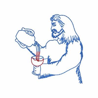Agua de torneado de Jesús al vino Chaqueta De Entrenamiento