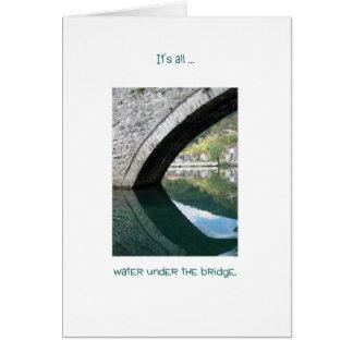 Agua debajo del puente, en Montenegro Tarjeta De Felicitación