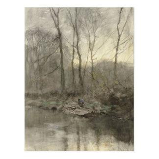 Agua del borde del bosque, color de malva de Antón Postales