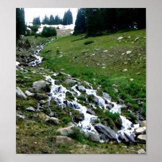 Agua del derretimiento de Colorado Impresiones