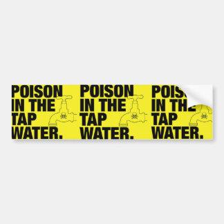 agua del grifo del veneno pegatina de parachoque