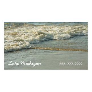 Agua del océano de la línea de la playa de la tarjetas de visita