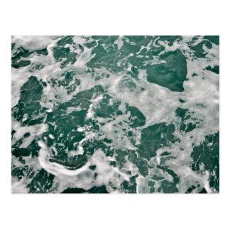 Agua del océano tarjetas postales