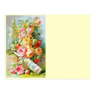 Agua del perfume de la Florida con los rosas de la Tarjetas Postales