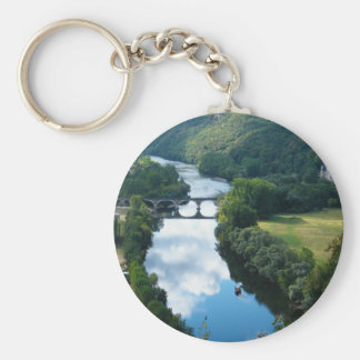 Agua del puente de barco de río del castillo del llavero redondo tipo pin