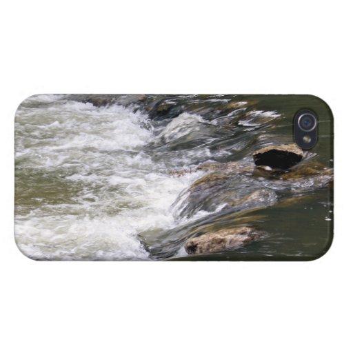 Agua del río Guadiaro saltando entre las rocas iPhone 4 Cárcasa
