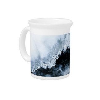 Agua e hielo jarron