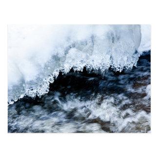 Agua e hielo tarjeta postal