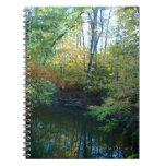 Agua en cuaderno del otoño