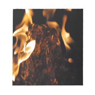 Agua en el fuego bloc de papel