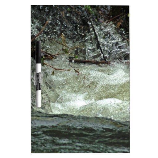 Agua en el funcionamiento pizarra blanca