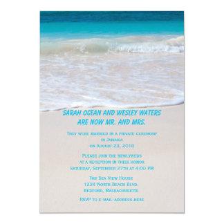 """Agua en la recepción de la orilla solamente invitación 5"""" x 7"""""""