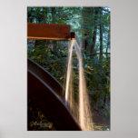 Agua en la rueda posters