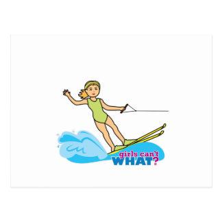 Agua-Esquiador-Chica 2 Postal