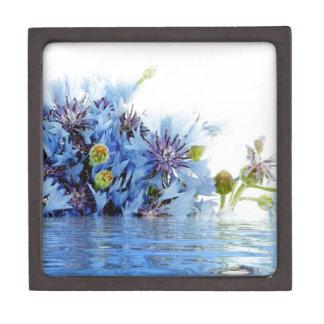 Agua floral azul del claro del arreglo de la decor cajas de joyas de calidad
