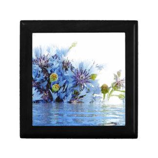 Agua floral azul del claro del arreglo de la decor cajas de recuerdo