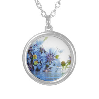 Agua floral azul del claro del arreglo de la decor collar