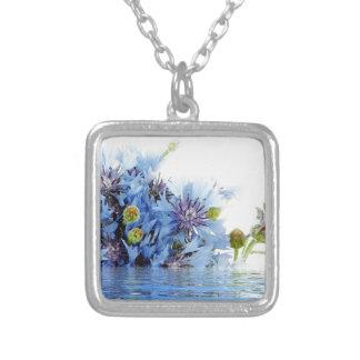 Agua floral azul del claro del arreglo de la decor colgantes personalizados