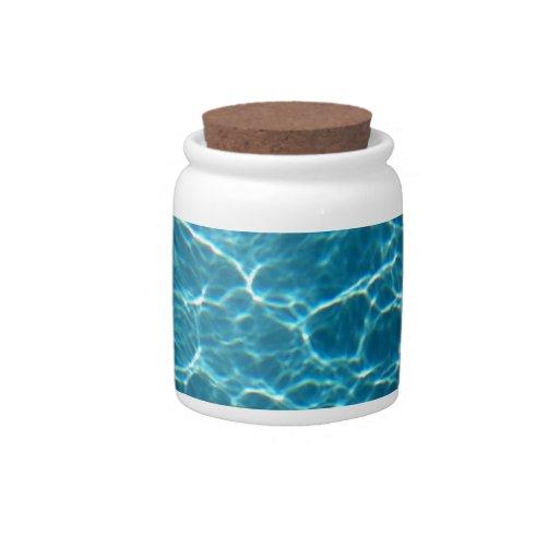 Agua fresca de la piscina tarro de cerámica para dulces