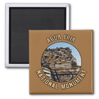 Agua Fria National Monument 2 Inch Square Magnet