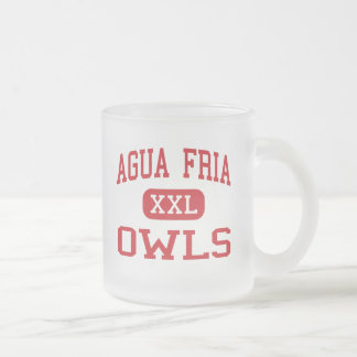 Agua Fria - Owls - High School - Avondale Arizona Frosted Glass Coffee Mug