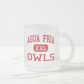 Agua Fria - Owls - High School - Avondale Arizona Frosted Glass Coffee Mug