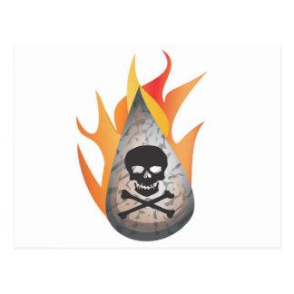 Agua Hidráulica-frack en el fuego Tarjeta Postal
