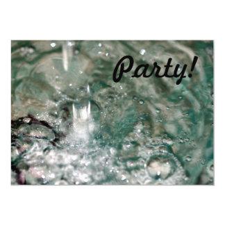 """Agua Invitación 5"""" X 7"""""""