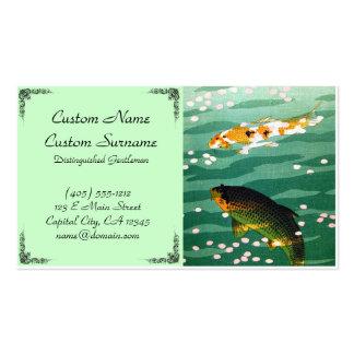 Agua japonesa oriental fresca de la esmeralda de l tarjetas de visita