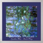 Agua-Lillies azul: Claude Monet Impresiones