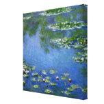 Agua Lillies de Monet Impresión De Lienzo