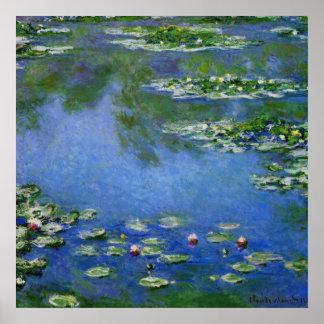 Agua Lillies de Monet Póster