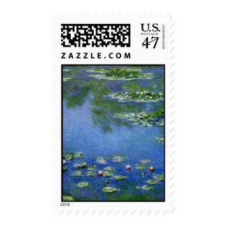 Agua Lillies de Monet Sellos Postales