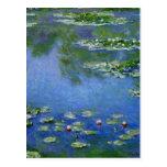 Agua Lillies de Monet Tarjeta Postal