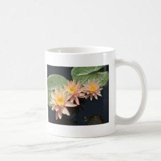 Agua Lillies del melocotón Tazas