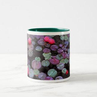 Agua Lillies, lirios de agua Tazas De Café