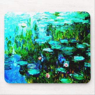 Agua Lillies Monet Mousepad de Nympheas