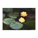 Agua-Lirios: 1897-98 de Monet Impresiones En Lona Estiradas