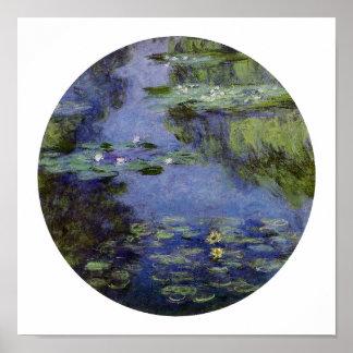 Agua-Lirios de Monet Póster