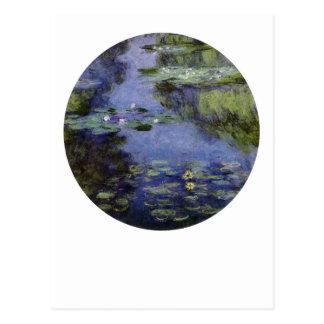 Agua-Lirios de Monet Tarjeta Postal