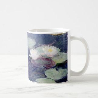 Agua-Lirios rosados: 1897-99 de Monet Taza De Café