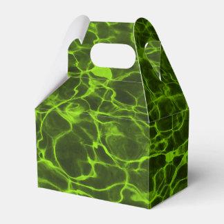 Agua llameante de la verde lima ácida cajas para detalles de boda