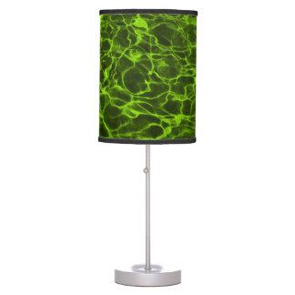 Agua llameante de la verde lima ácida lámpara de mesa