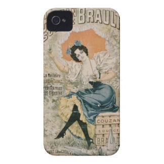 Agua mineral natural f de Brault de la publicidad iPhone 4 Case-Mate Funda