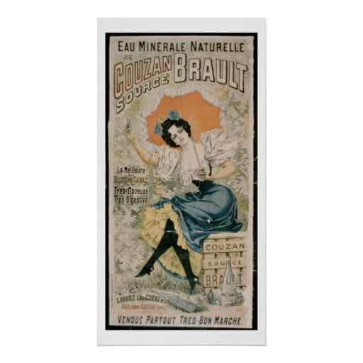 Agua mineral natural f de Brault de la publicidad  Impresiones