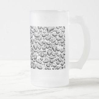 Agua moldeada en superficie taza de cristal