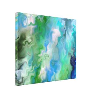 Agua no real un extracto impresiones en lienzo estiradas