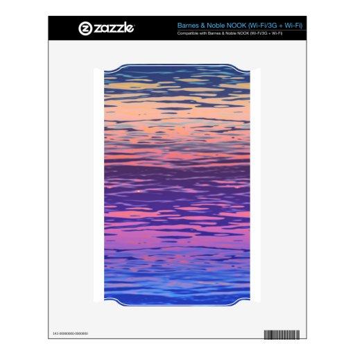Agua ondulada del arco iris NOOK calcomanías